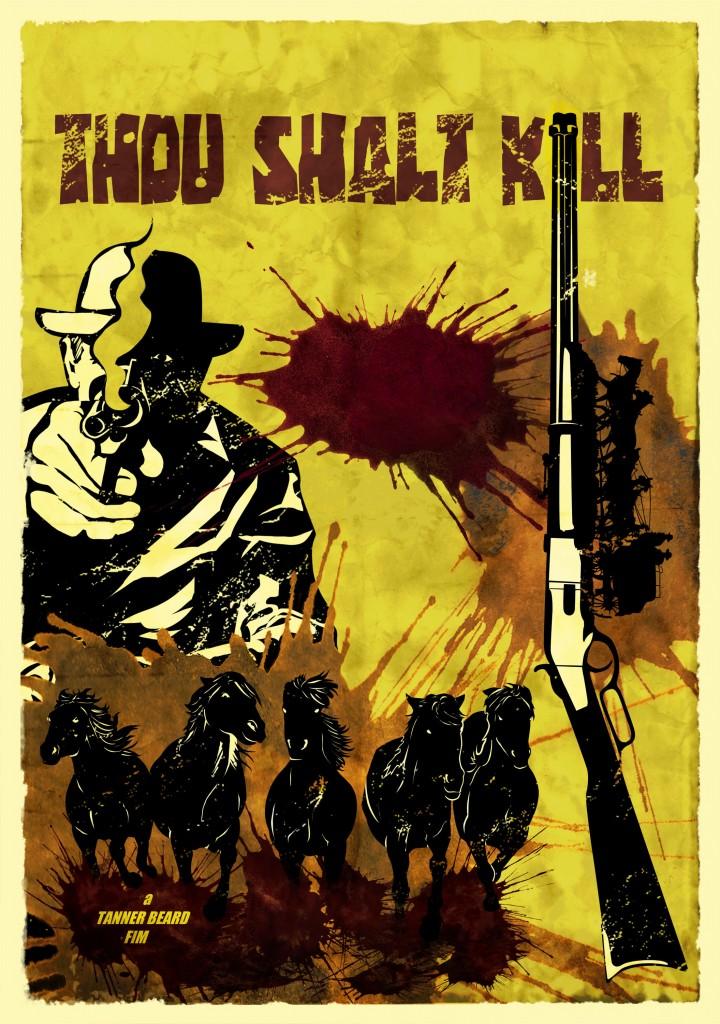 retro poster spaghetti Western